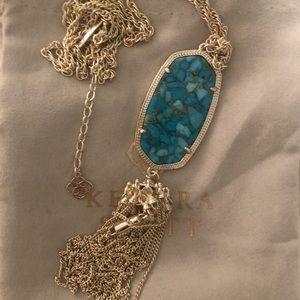 Kendra Scott Bronzed Veined Turquoise Rayne